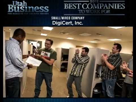 DigiCert Named One of Utah's Best Companies to Work For in 2012
