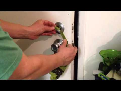 HOW TO: lock a door WITHOUT a key!!