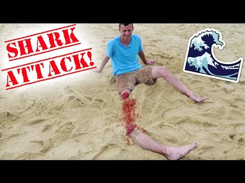SHARK ATTACK BEACH PRANK!! - HOW TO PRANKS