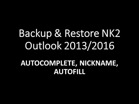 nk2 file outlook 2016 | How to export outlook autocomplete list {Hindi} 2018