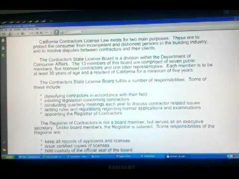 ACLC University Contractors License Law  www.ACLC.com