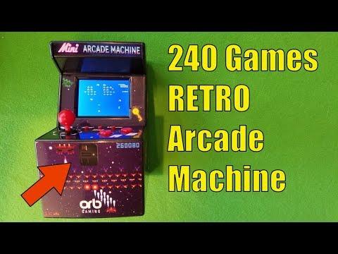 RETRO ARCADE MACHINE with 240 Games, One MINI Catch...