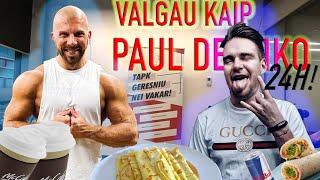24h VALGIAU ir GĖRIAU kaip PAUL DE MIKO | VLOG№03