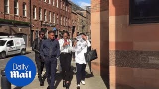 Newcastle United player Rolando Aarons arrives at court - Daily Mail