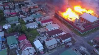 Camp Street jail on fire
