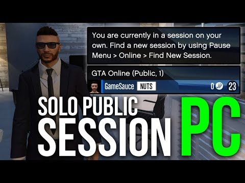 How to Make a Solo Public Session on PC | GTA Online | Task Manager Method
