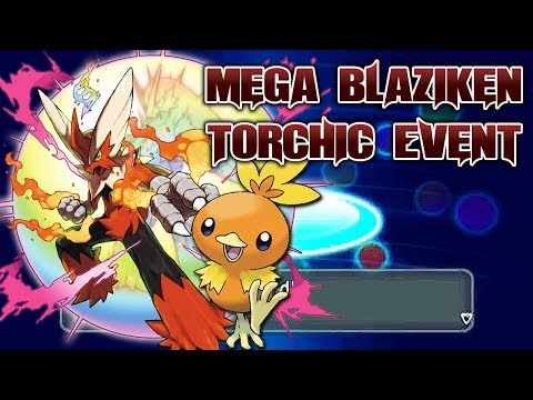 Pokémon X & Y - Mega Blaziken Torchic Event w/Blazikenite & Speed Boost