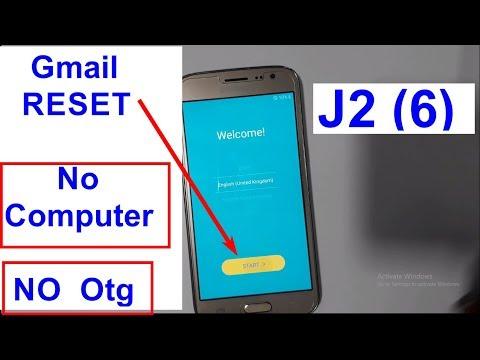 Samsung Galaxy J2 6 J210F  Google Account Verification Google Lock Gmail Bypas FRP RESET