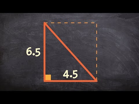 Find the area of a right triangle - Online Tutor - Free Math Videos