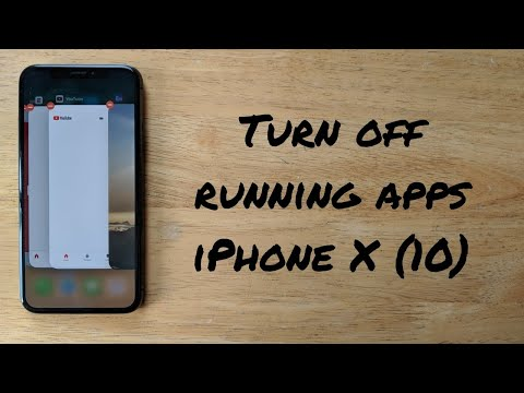 How to turn off running / malfunctioning apps iPhone X (10)