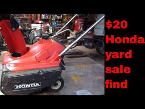Will it Run? old neglected Honda snowblower