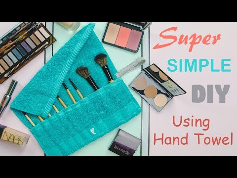 How To: SUPER SIMPLE Cosmetic MAKEUP BRUSH ROLL BAG DIY Tutorial | Ming Zhao