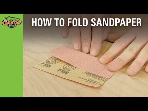 Tricks & Tips - Sandpaper Folding Trick