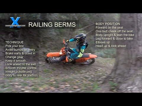 HOW TO RAIL BERMS: Cross Training Enduro Skills