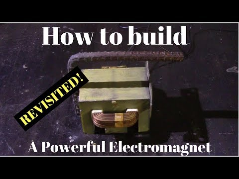 How to build a powerful electromagnet ( revisited!!!!)  |crazy results!|