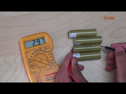 How to test 18650 battery cells to use for battery packs