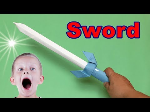 How to Make a Cool Paper Sword Easy | Ninja Sword Tutorial | Origami Weapons for kids