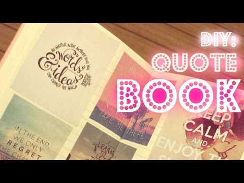 DIY: Quote Book