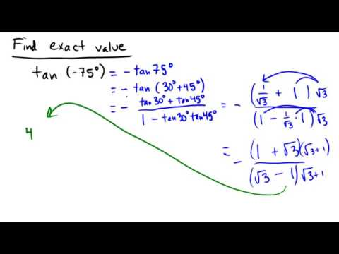 Applying the sum and difference formulas to find exact values of trig functions