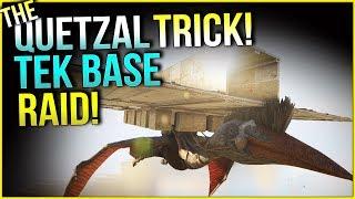 THE QUETZAL TRICK! QUETZAL RAIDING A TEK BASE! - Official Small Tribe | ARK: Survival Evolved Ep.14