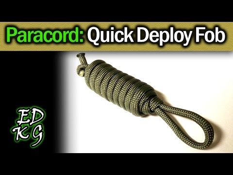 Simple Paracord: Quick Deploy Key Fob (survival or EDC cordage in seconds)