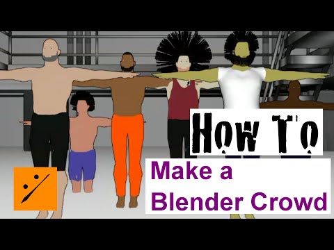 Make a Quick Cartoon Crowd [Easy] Part 2 (Blender and MakeHuman)