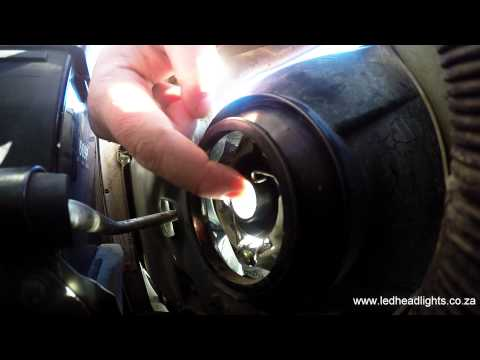 How to install a LED headlight replacement kit - H4