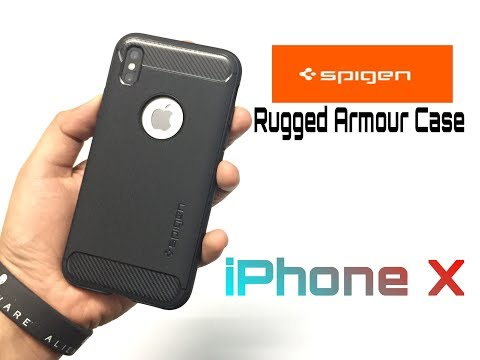 Spigen Rugged Armor Case For iPhone X Unboxing & Overview (INDIA).
