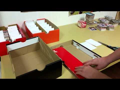 How to make a sports card orginizer box