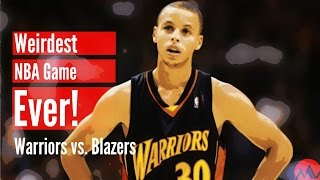The Weirdest NBA Game Ever! (Warriors vs. Blazers)