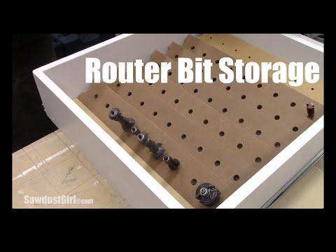 Router Bit Storage