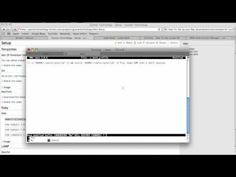 How To: Set up your Mac development environment for Gunner Technology Part 4 - RVM & Ruby