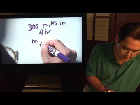 Math Lessons : How to Calculate Miles Per Hour