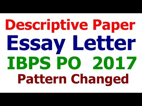 How to prepare for descriptive paper of IBPS PO MAINS