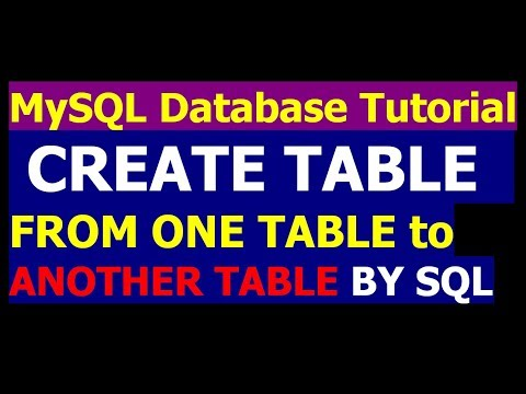How To Create A Table From Another Table By Query - MySql Database Bangla Tutorial Part 24