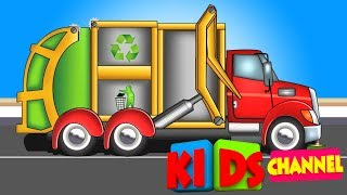 Garbage Truck | kids educational video | cars and trucks