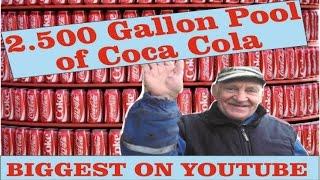Massive Coca Cola Pool 2500 Gallon 12000 Litres Soda Experiment