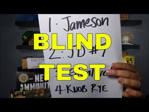 VIDEO 8 BEGINNERS GUIDE TO WHISKEY BLIND TEST GLENLEVIT, JAMESON, KNOB CREEK RYE, JACK DANIELS