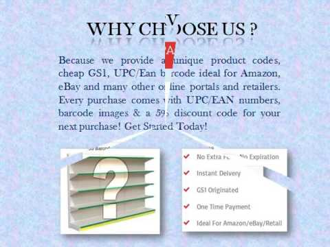 Buy Cheap GS1 UPC/Ean Barcode Numbers Online for Amazon