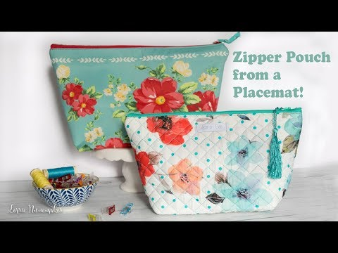Placemat Zipper Pouch with Vinyl Lining