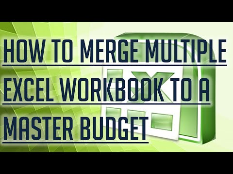 [Free Excel Tutorial] HOW TO MERGE MULTIPLE EXCEL WORKBOOK TO A MASTER BUDGET - Full HD