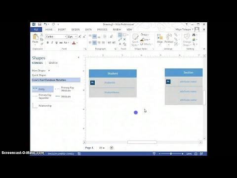 How to create ER diagram by using Visio 2013