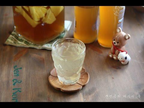 Pineapple Vinegar :: 파인애플 식초 만들기, 다이어트 식초, Good for Diet!