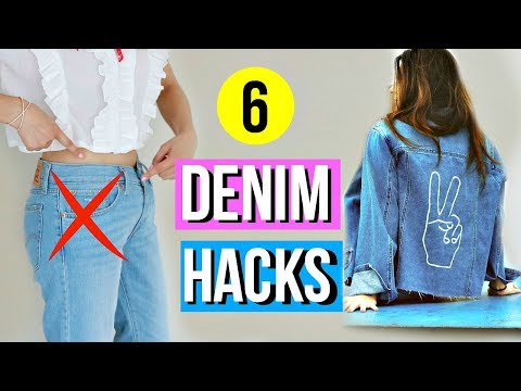 6 DIY Denim Hacks EVERY Girl Must Know!