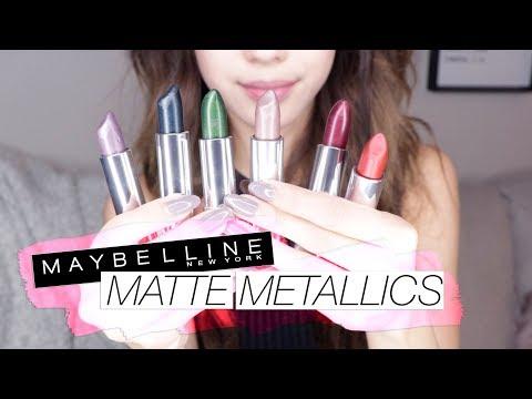 Maybelline MATTE METALLIC Lipsticks! Swatch & Review