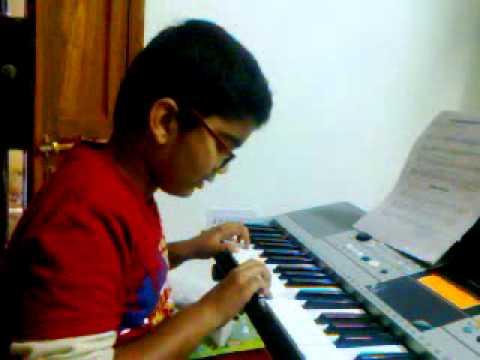 Anirudh playing Sloop John B - Trinity Initial grade keyboard piece