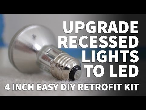 How to Install Retrofit LED Lights 4 Inch Kit - Dimmable LED Recessed Lighting Sunco 3000K 5000K