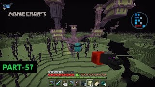 MINECRAFT | EXPLORING END CITY WE FOUND ELYTRA & DRAGON HEAD ON THE SHIP#57
