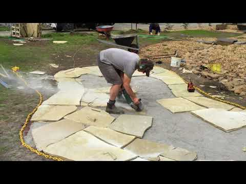 How To Cut Stone Pavers Using An Angle Grinder