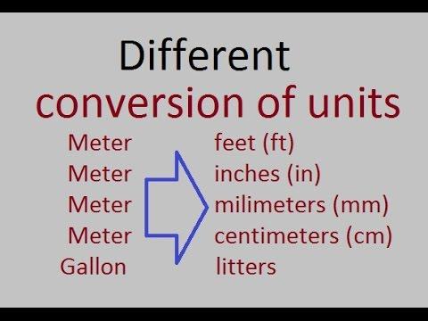 Different conversion units/factors in Urdu/Hindi